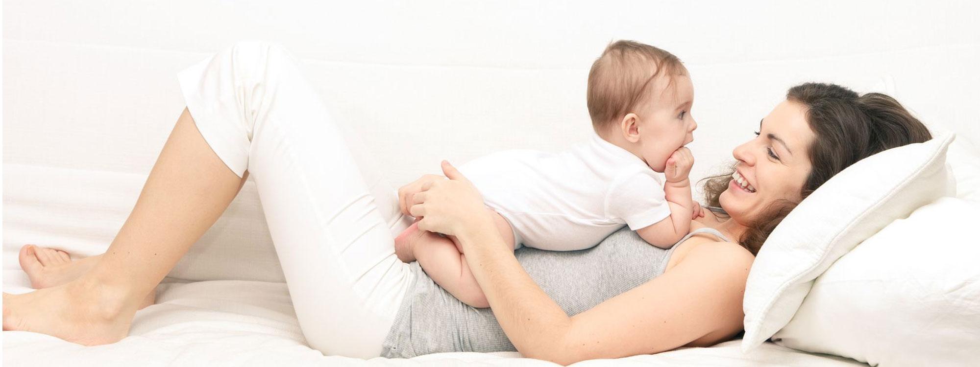mum and baby warm heatpump